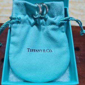 Tiffany & Co. SS hoop earrings